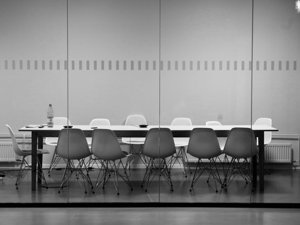 Empty conference room in an office