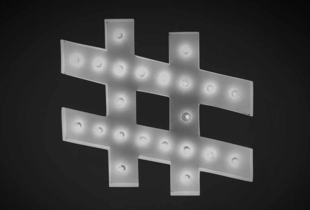 hashtag with lights